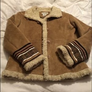 Coldwater Creek fur lined jacket